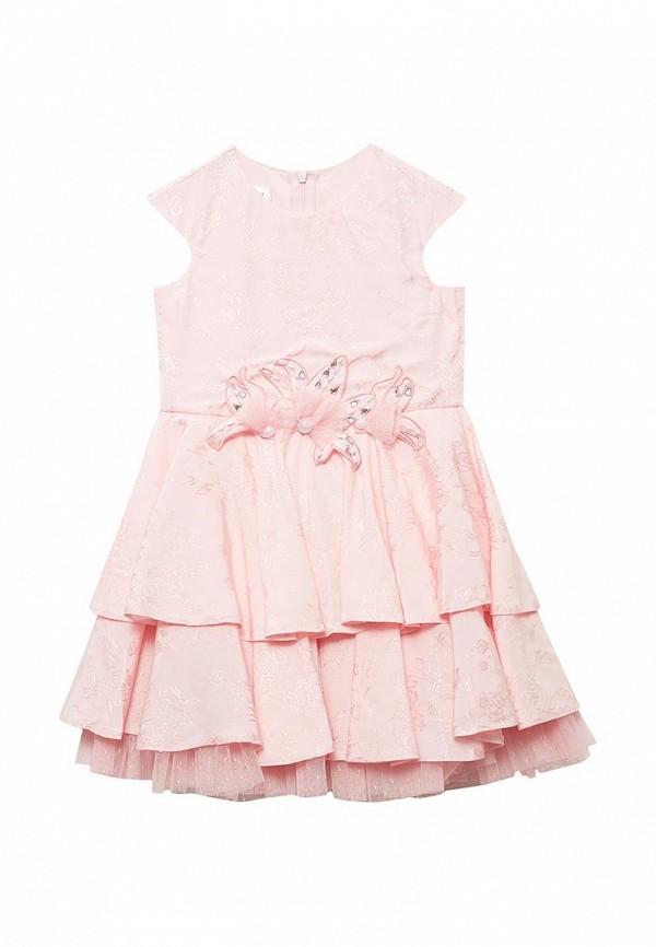 платье fleur de vie для девочки, розовое