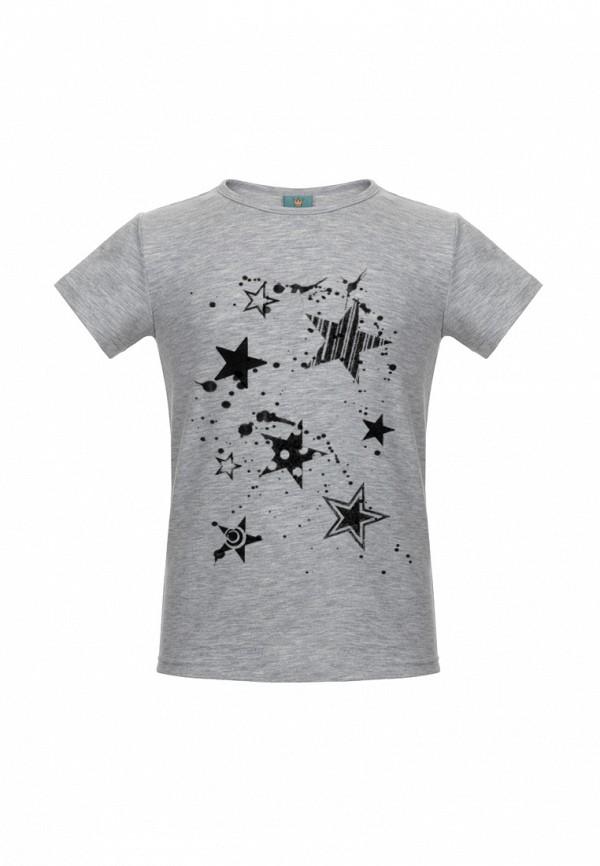 футболка с коротким рукавом lisa&leo для девочки, серая