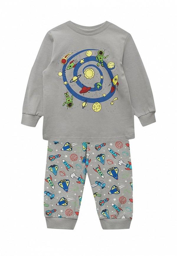 пижама fleur de vie для девочки, серая