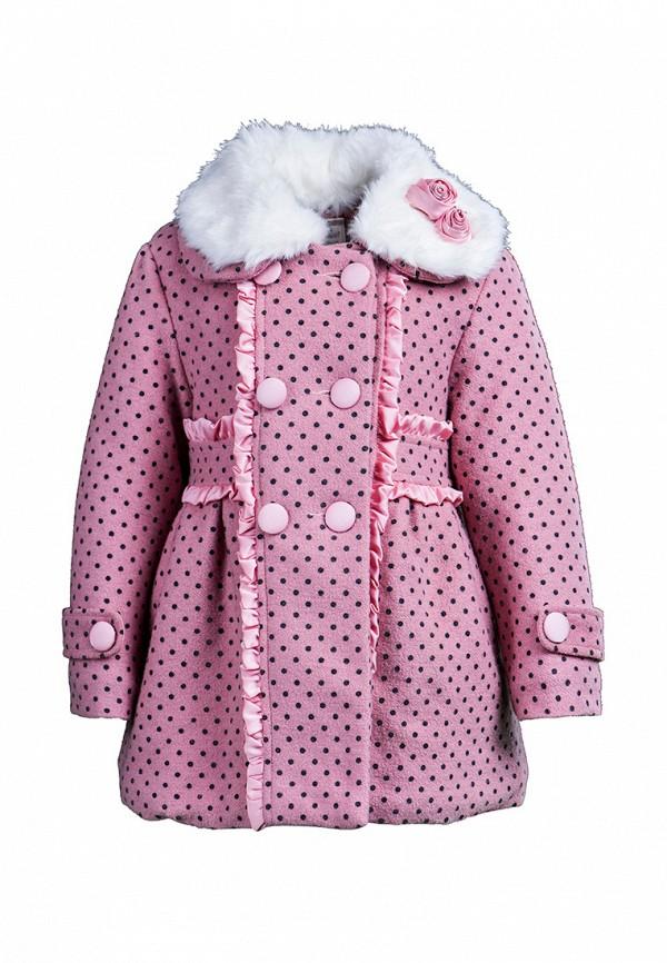 пальто cascatto для девочки, розовое