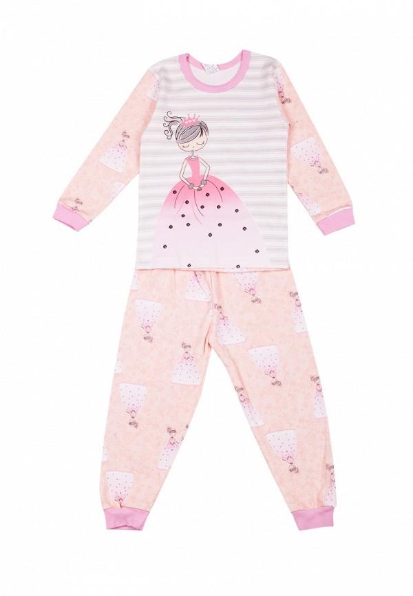 пижама tokki для девочки, розовая