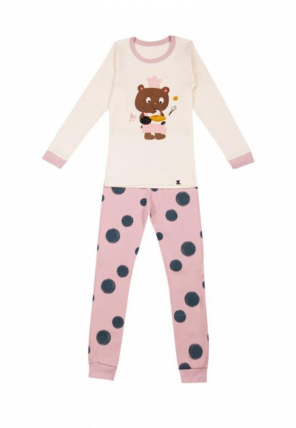 пижама tokki для девочки, разноцветная