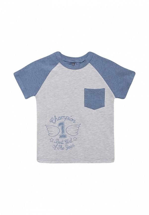 футболка с коротким рукавом fleur de vie для девочки, серая