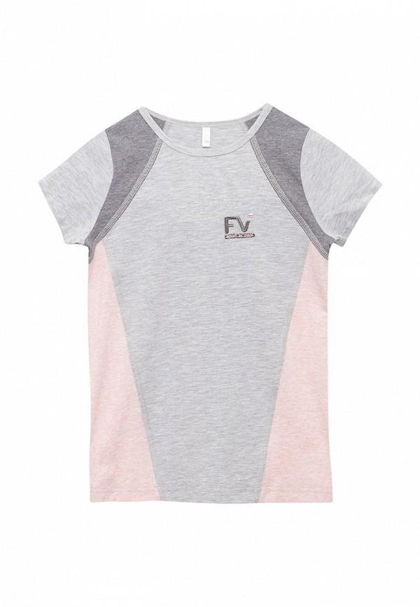 футболка fleur de vie для девочки, серая