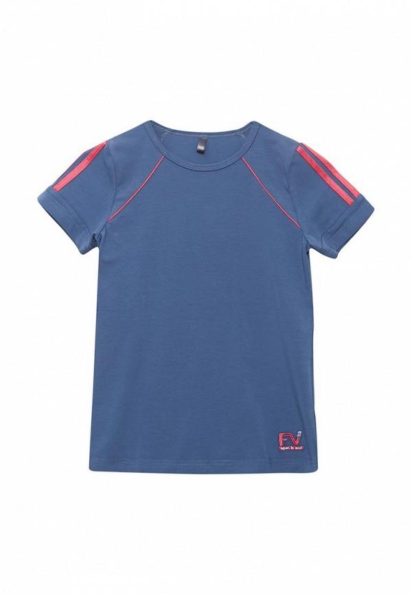 футболка fleur de vie для девочки, синяя