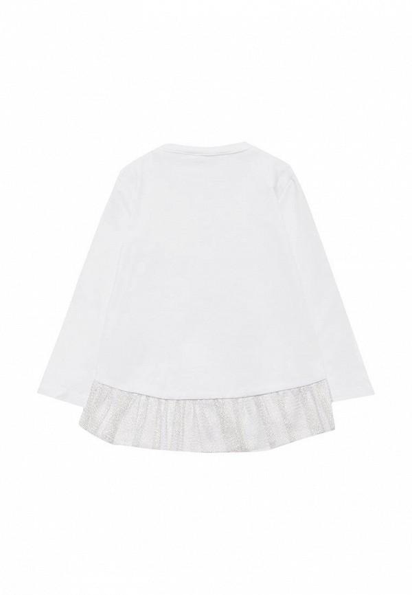 Лонгслив для девочки Coccodrillo цвет белый  Фото 2