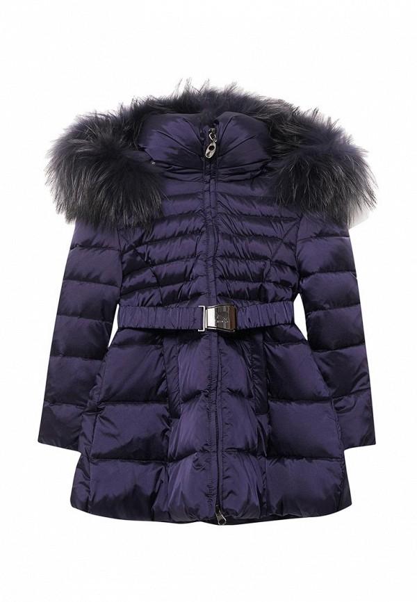 куртка kiwiland для девочки, синяя