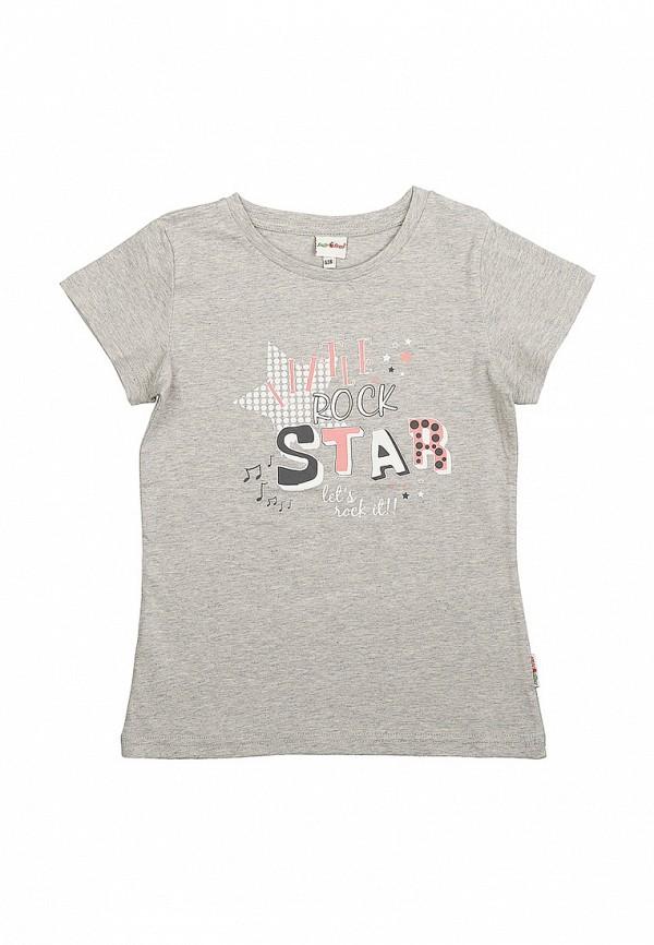 футболка с коротким рукавом frutto rosso для девочки, серая