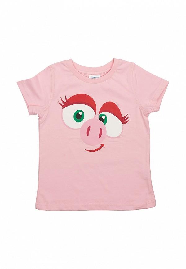 футболка с коротким рукавом frutto rosso для девочки, розовая