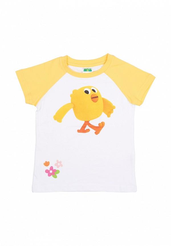 футболка с коротким рукавом frutto rosso для девочки, белая
