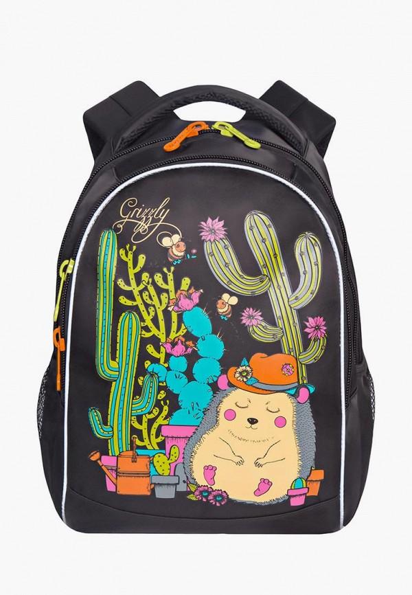 рюкзак grizzly для девочки, черный
