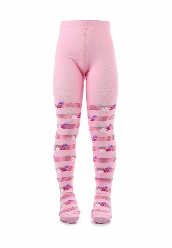 колготки conte kids для девочки, розовые