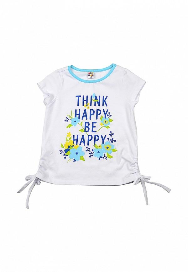 футболка с коротким рукавом mini maxi для девочки, белая