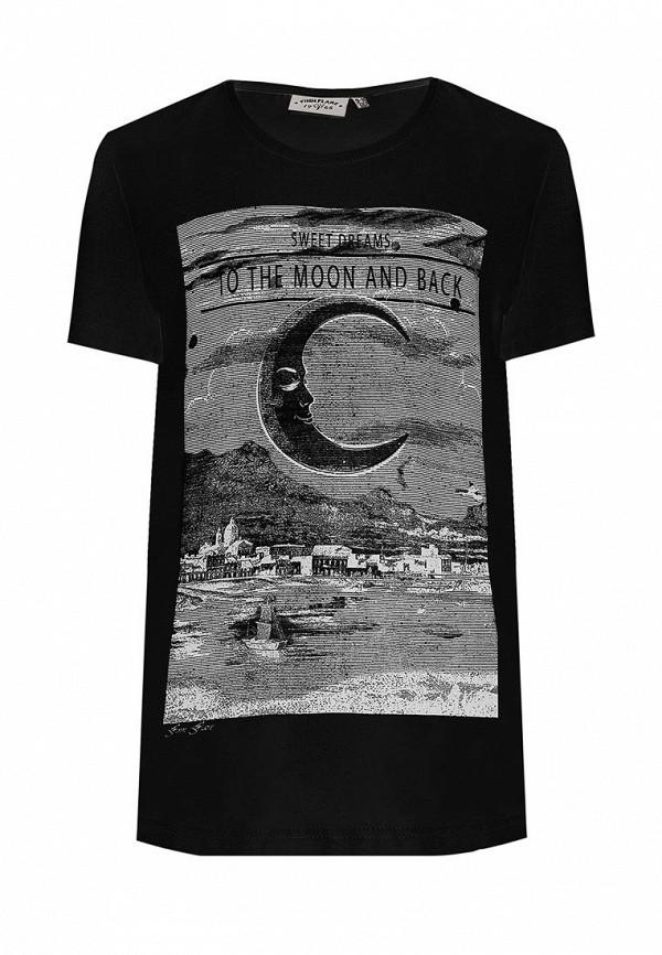 футболка finn flare для девочки, черная