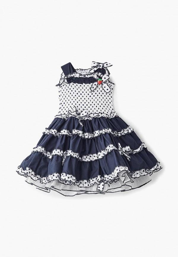 повседневные платье mes ami для девочки, синее