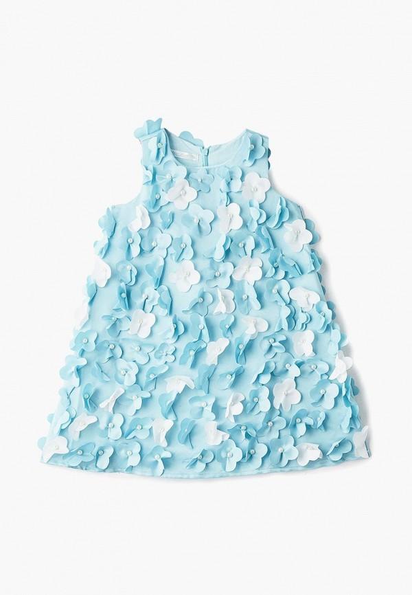 платье mes ami для девочки, голубое