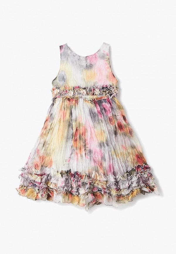 повседневные платье mes ami для девочки, разноцветное