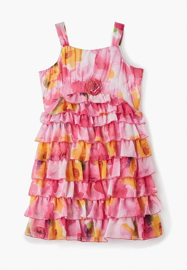 платье mes ami для девочки, розовое