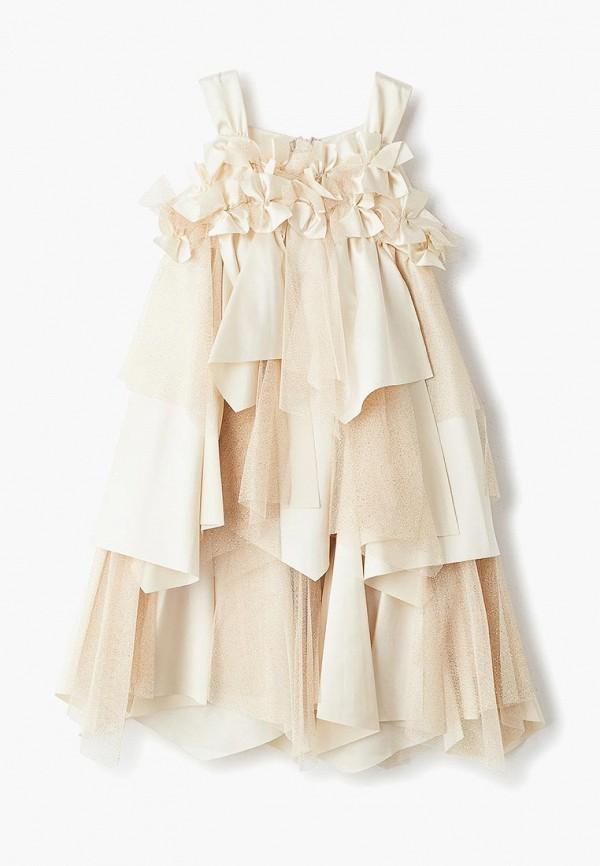 платье mes ami для девочки, золотое