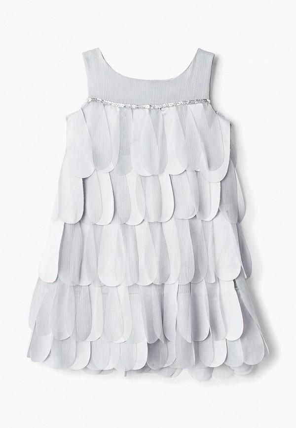 платье mes ami для девочки, серебряное