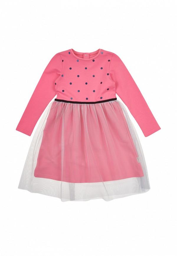 повседневные платье robinzon для девочки, розовое