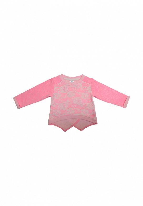свитшот кит для девочки, розовый