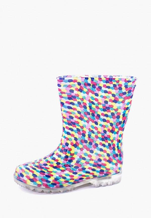 резиновые сапоги coccodrillo для девочки, разноцветные