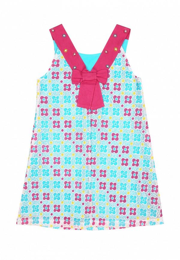 повседневные платье bell bimbo для девочки, бирюзовое