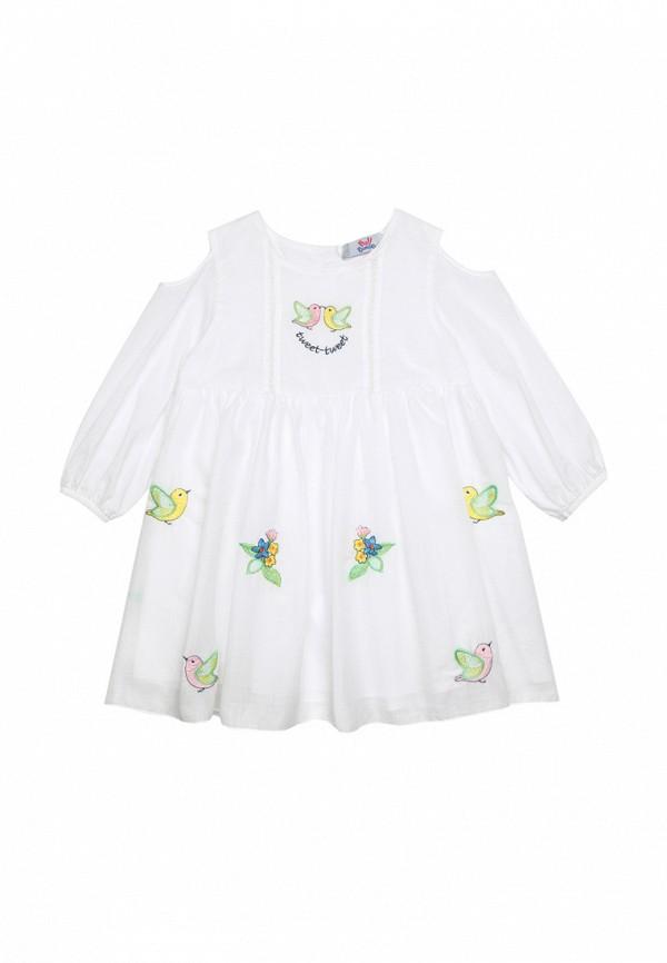 повседневные платье bell bimbo для девочки, белое
