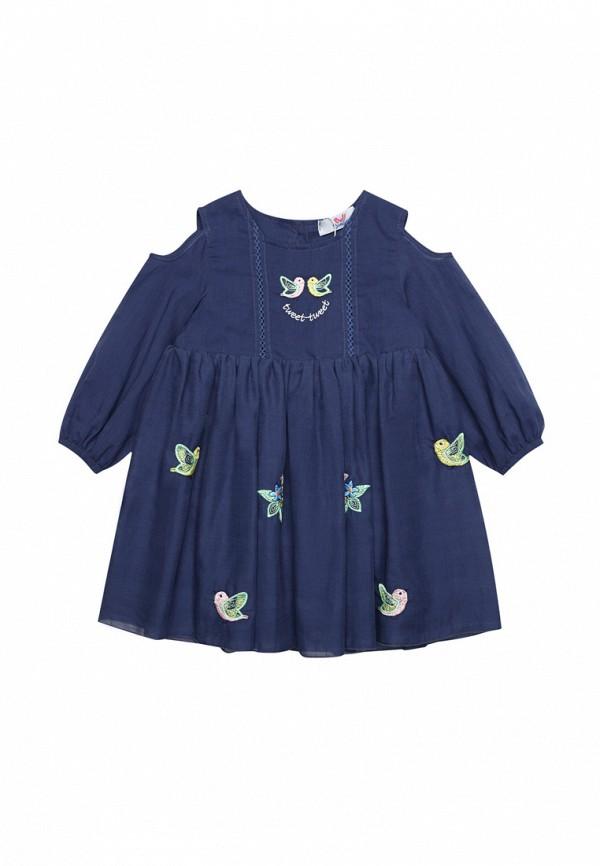 повседневные платье bell bimbo для девочки, синее