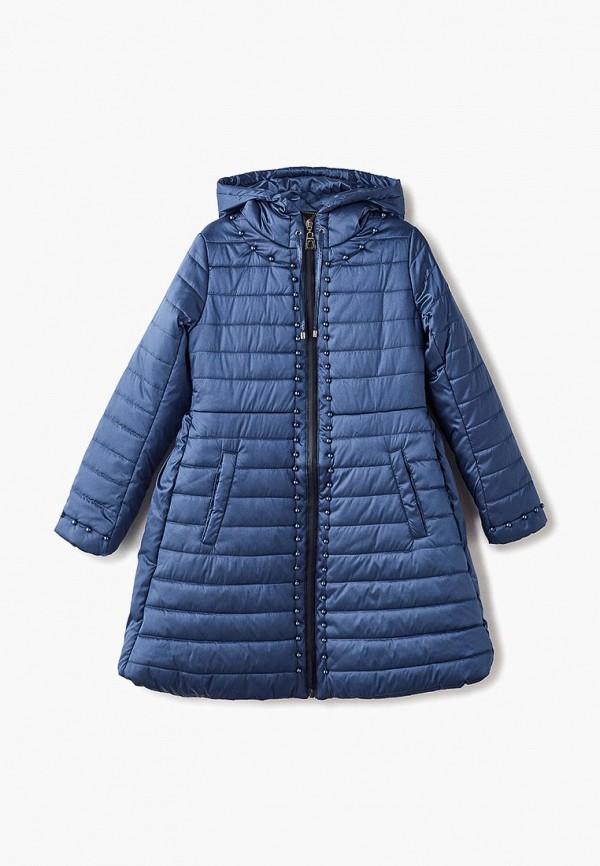 куртка mes ami для девочки, синяя
