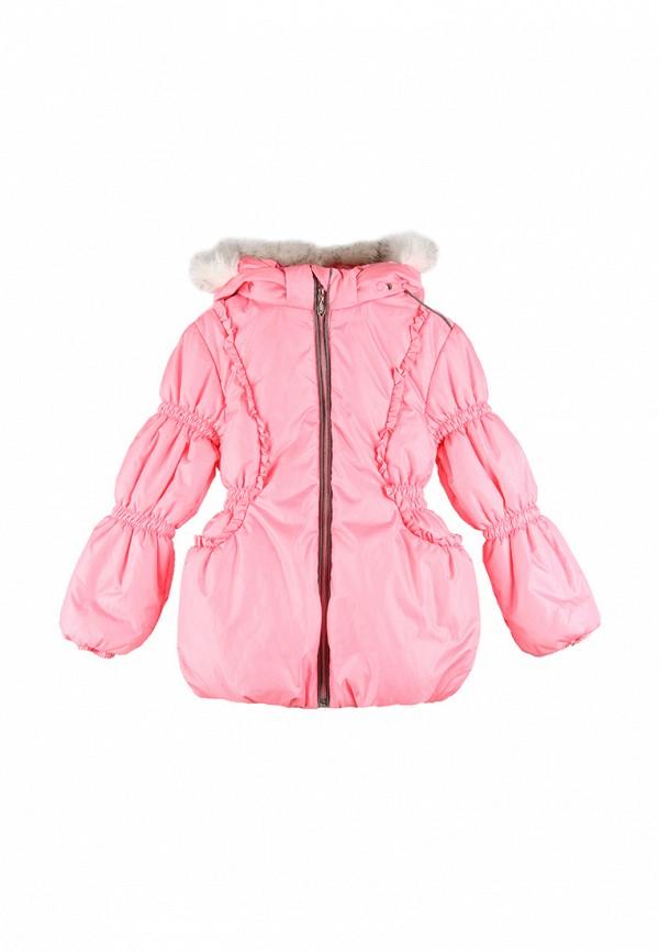 куртка kat для девочки, розовая