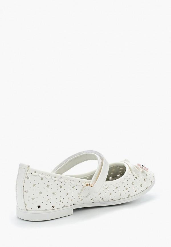 Туфли для девочки Vitacci цвет белый  Фото 2