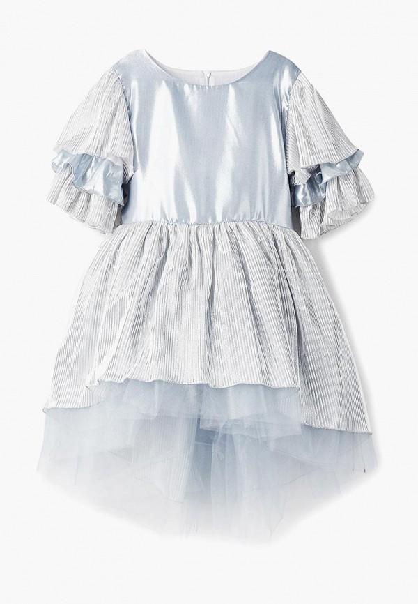 платье shened для девочки, серебряное