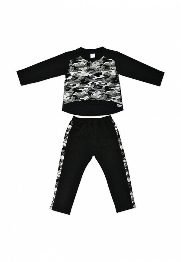 спортивные спортивный костюм кит для девочки, черный