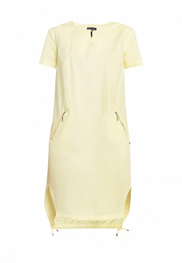 повседневные платье finn flare для девочки, желтое