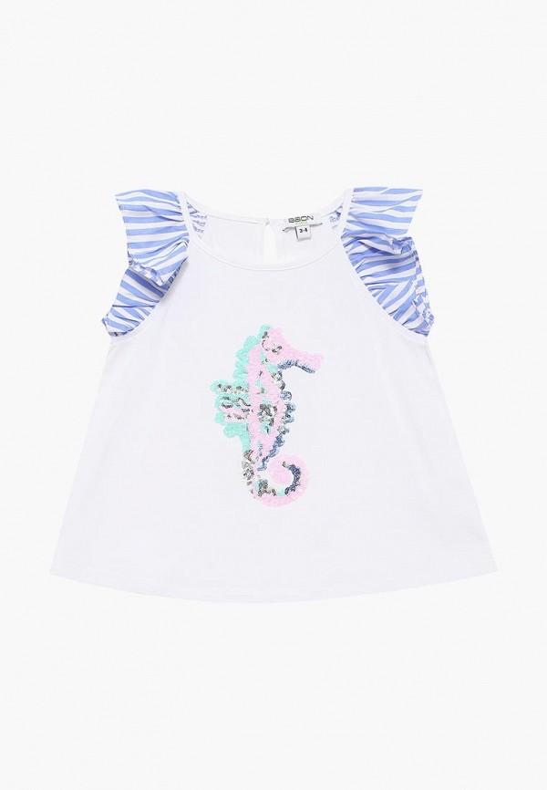 блузка baon для девочки, белая