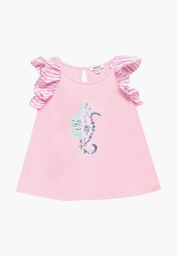 блузка baon для девочки, розовая