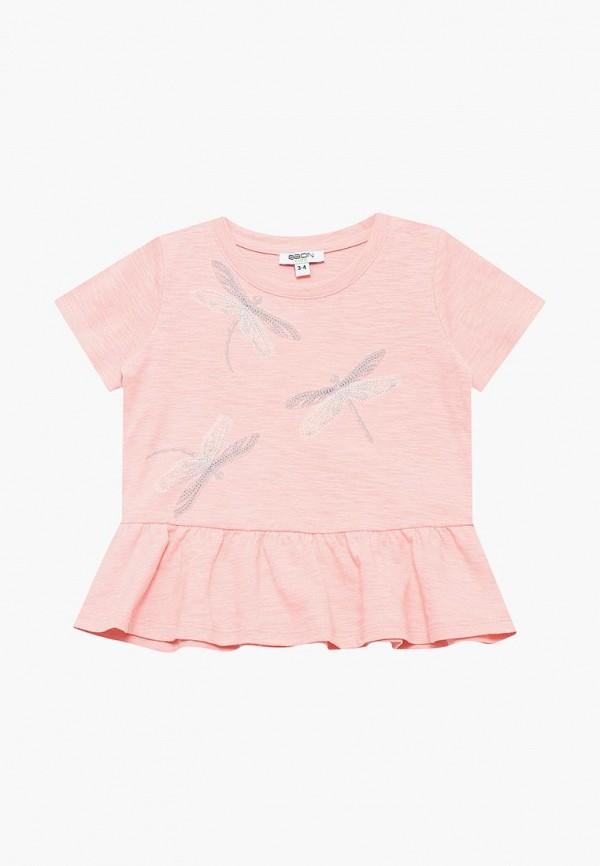 футболка с коротким рукавом baon для девочки, розовая