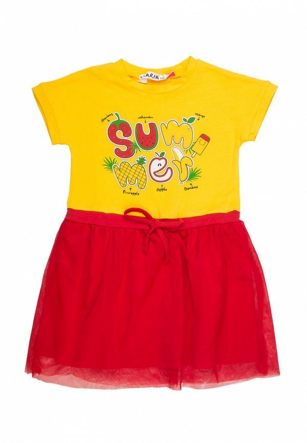 повседневные платье elaria для девочки, желтое