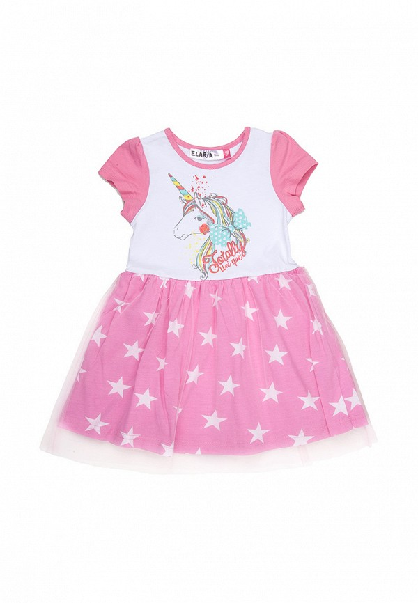 повседневные платье elaria для девочки, розовое