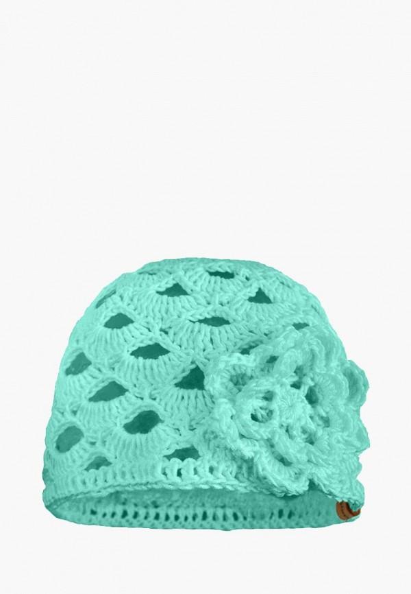 шапка anmerino для девочки, бирюзовая