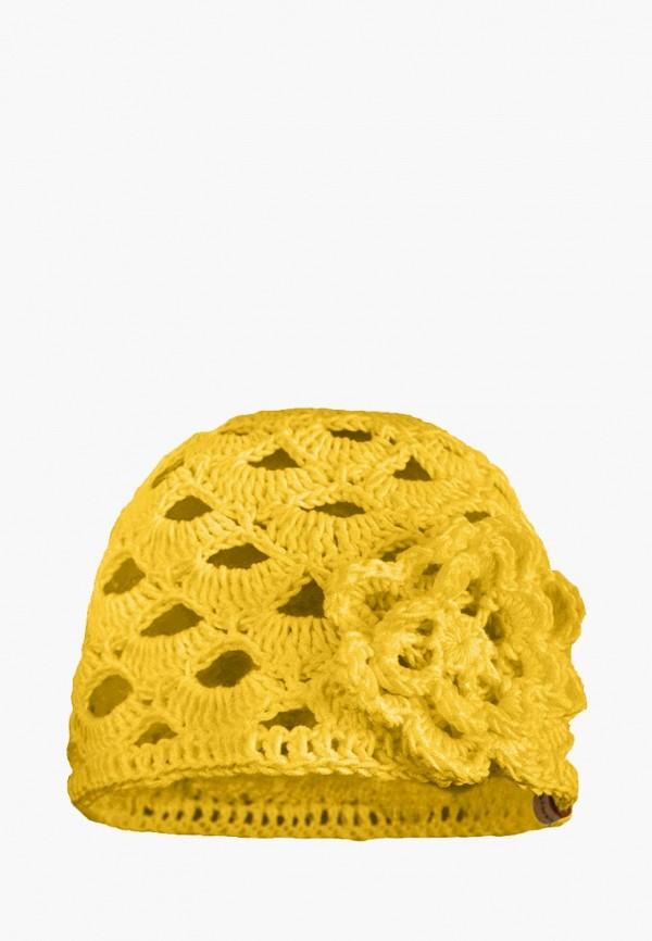 шапка anmerino для девочки, желтая