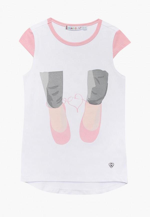 футболка с коротким рукавом chadolini для девочки, белая