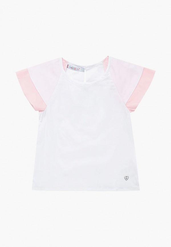 блузка chadolini для девочки, белая