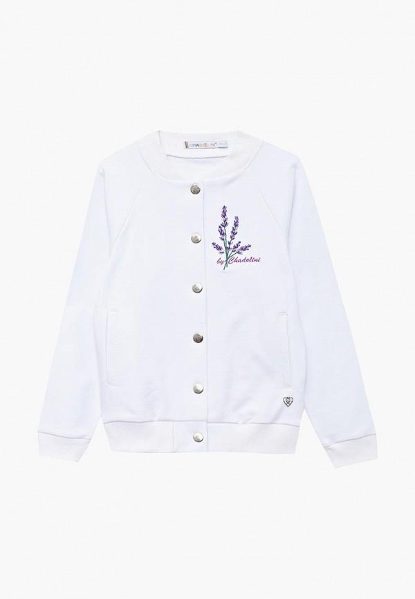 куртка chadolini для девочки, белая