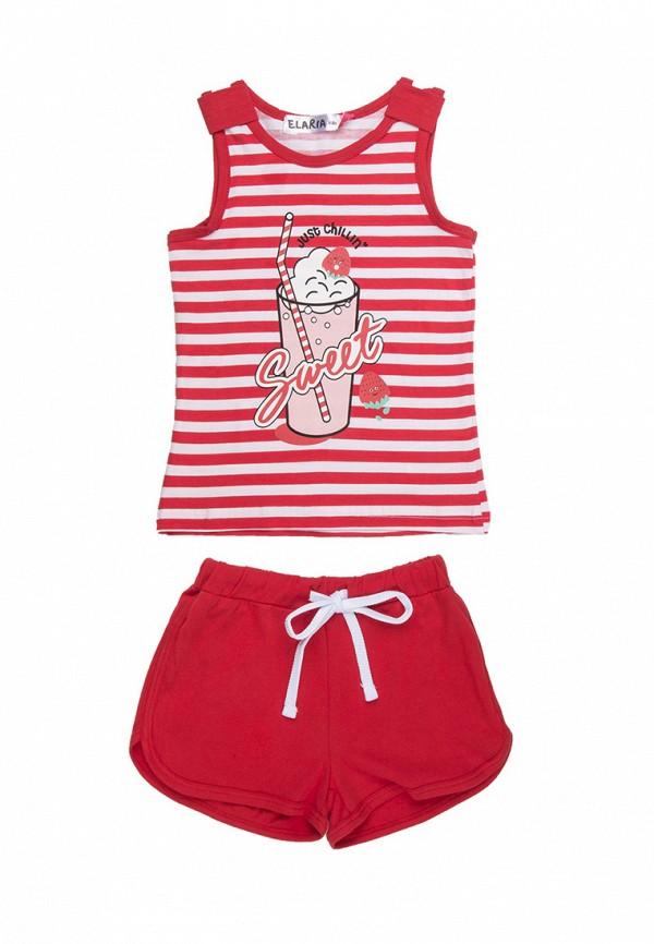 спортивные спортивный костюм elaria для девочки, красный