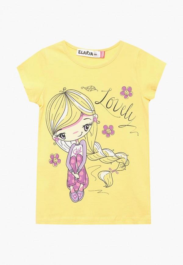 футболка с коротким рукавом elaria для девочки, желтая