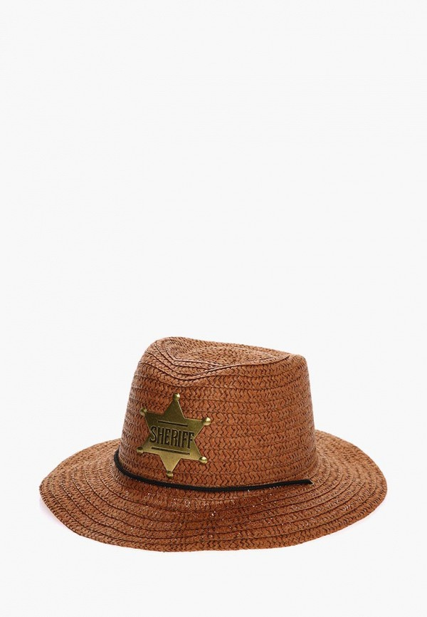 шляпа solorana для девочки, коричневая