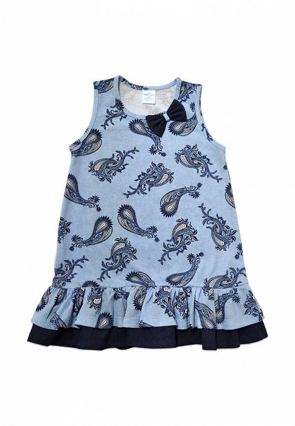 повседневные платье кит для девочки, голубое